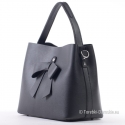 Czarna torebka z kokardą