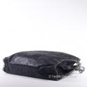 Miejska stylowa czarna torba z łańcuszkami metalowymi na obwodzie