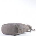 Torba ciemnobeżowa - kolor taupe - khaki, mieści A4