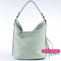 Zielona damska torebka w modnym, pasetelowym, miętowym odcieniu