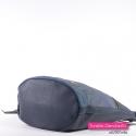 Granatowa efektowna i praktyczna torba miejska na ramię lub do przewieszenia