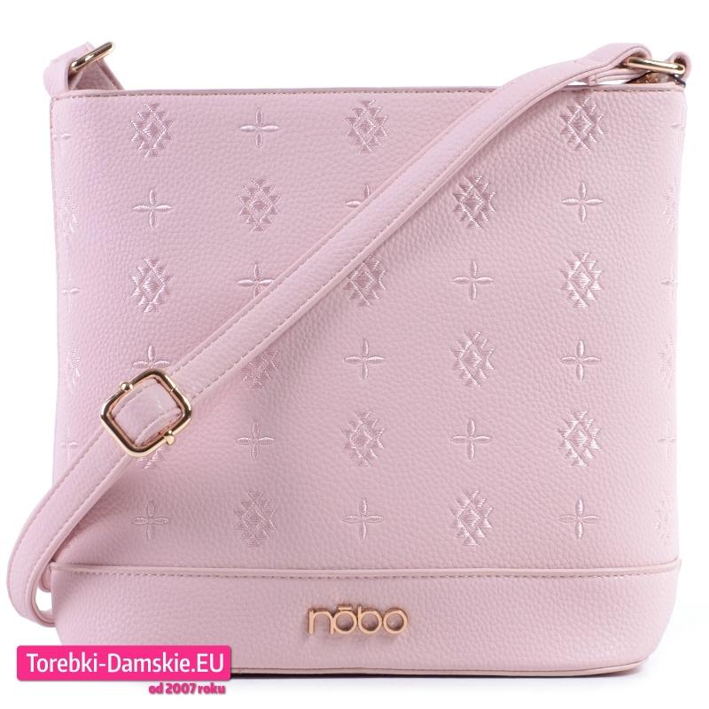 Różowa torebka crossbody w modnym pastelowym odcieniu