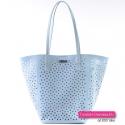 Błekitna jasnoniebieska torebka - zestaw dwóch torebek z modelem crossbody