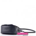 Mała torebka crossbody czarna o zaokrąglonych kształtach