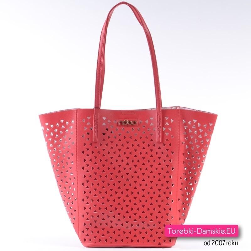 Dwie czerwone torebki NOBO - komplet shopper i crossbody