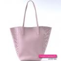 Dwie torebki w kolorze pudrowy róż marki NOBO