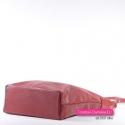 Duża miejska czerwona torba damska ze skóry naturalnej
