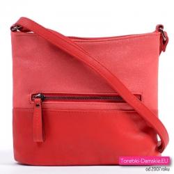 Czerwona torebka damska typu crossbody