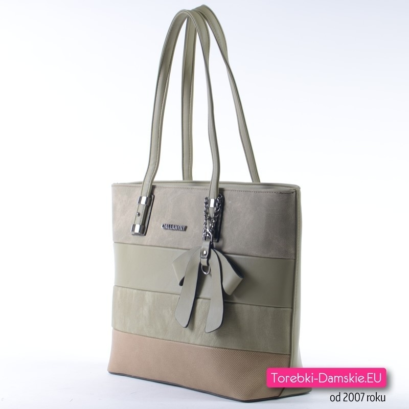 Zielona oliwkowa torebka damska na ramię