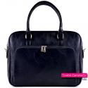 Czarna torba damska na laptopa ze skóry eko