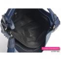 Granatowa metalizowana efektowna torba damska z chwostem