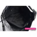 Duża srebrno - czarna torba damska