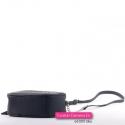 Czarna dwukomorowa torebka z ćwiekami - nitami i frędzlem