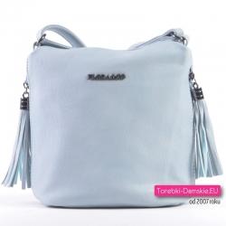 837a7838890f5 Błękitna torebka - worek w kolorze niebieskim