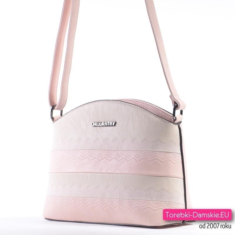 cf429aeb027c0 ... Markowa torebka w modnym odcieniu różowego i beżu ...