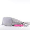 Mała szara torebka crossbody z frędzlami