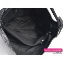 Torba czarna z przegrodą wewnątrz - duży modny model A4