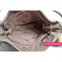 Beżowa duża damska torba z frędzlami