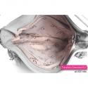 Szara torba na ramię - mieści A4, jasny odcień