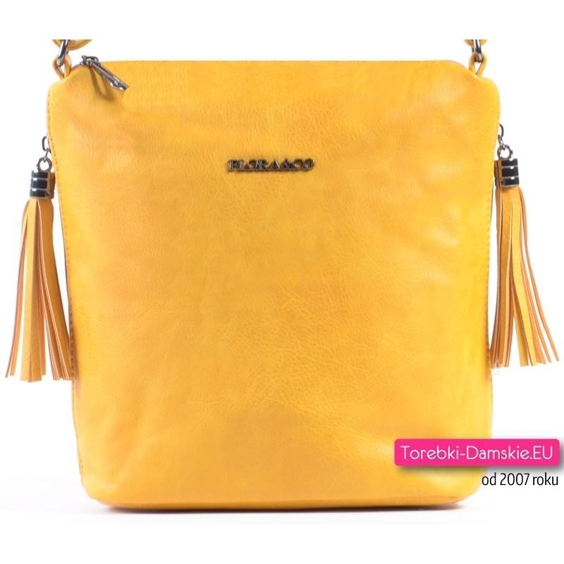Żółta mała torebka damska