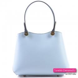 Włoska torebka w kolorze błękit pastelowy