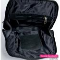 Czarny plecak damski z naturalnej skóry licowej