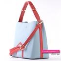 Błękitno - czerwona torebka