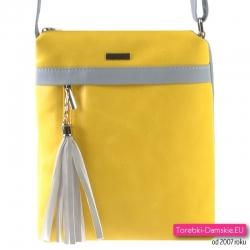 Żółto - szara torebka