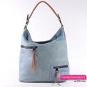 Niebieska miejska torba damska