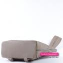 Skórzany plecak damski - kolor beż cappuccino