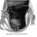 Bordowa torebka - plecak damski z miękkiej licowej skóry naturalnej
