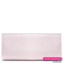 Różowa pudrowa pastelowa torebka kopertówka