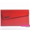 Czerwona wizytowa torebka kopertówka