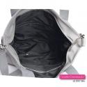 Markowa duża szara torba w nowoczesnym fasonie