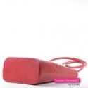 Pojemna czerwona stylowa torba damska na ramię