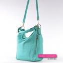 Zielona miętowa torebka damska - modny odcień