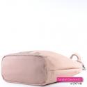 Różowa pastelowa torba z szerokim płaskim spodem