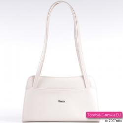 Elegancka torebka na ramię w kolorze ecru