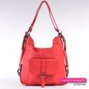 Czerwona plecako - torebka damska