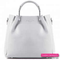 Szara markowa torebka w nowym modnym fasonie