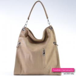 Beżowa torba damska a4