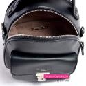 Mały czarny damski plecak