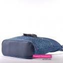 Pojemna jeansowa torebka crossbody