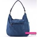 Jeansowa torebka A4 na ramię/do przewieszenia - gratis portmonetka