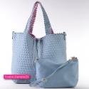 Zestaw dwóch błękitnych torebek damskich - komplet