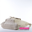 Torebko - plecak damski ze skóry w kolorze ecru
