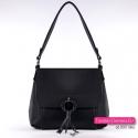 Stylowa czarna torebka damska średniej wielkości