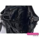 Skórzana czarna torba damska