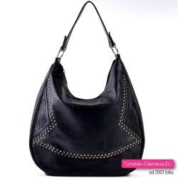 Funkcjonalna miejska elegancka czarna torebka damska