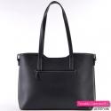 Czarna stylowa damska torebka na ramię i do przewieszenia